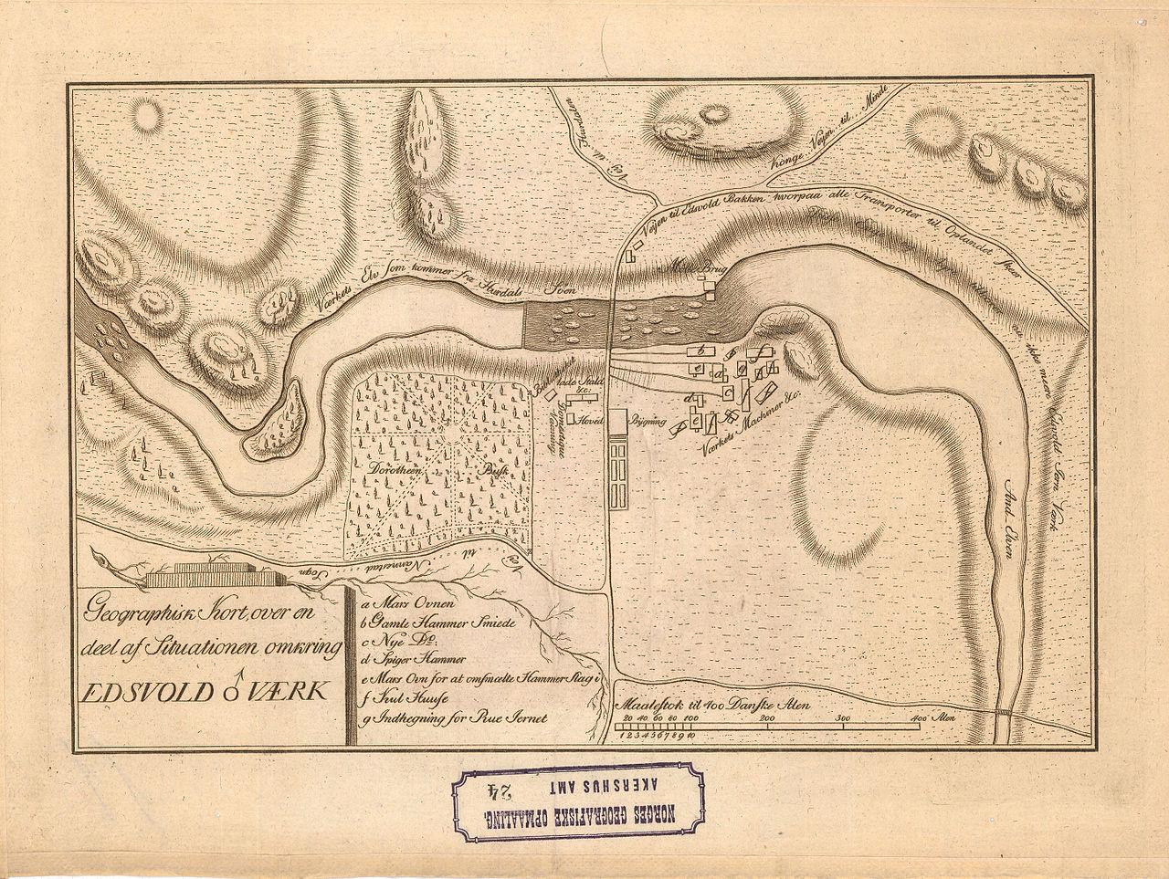 File Akershus Amt Nr 24 Geographisk Kort Over En Deel Af