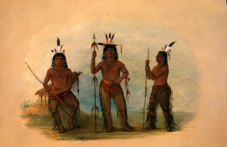 Alaeutian Chief and Two Warriors