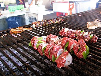 Alambre - Alambres barbecued on skewers