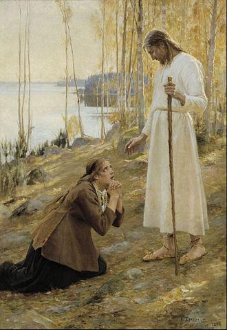 Albert Edelfelt - Christ and Mary Magdalene
