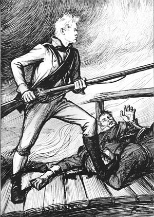 "The Tales of Ensign Stål - Illustration for the poem ""Sven Dufva"""