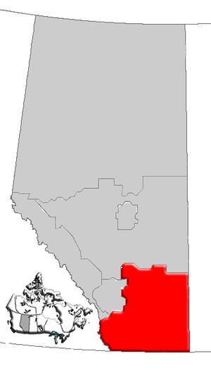 Southern Alberta - Image: Alberta southern map