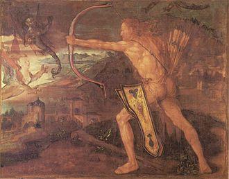 Stymphalian birds - Hercules Killing the Stymphalian Birds by Durer, 1500.