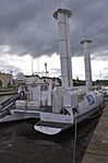 Alcyone (stern view) - Jacques Cousteau's Turbosail Ship - Caen, northwestern France - June 2011.jpg