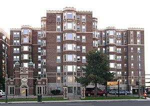 National Register of Historic Places listings in Detroit - Image: Alden Park Towers Detroit MI
