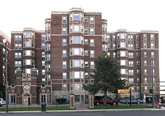 National Register of Historic Places listings in Detroit - Image: Alden Park Towers Detroit MI
