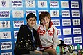 Alena Leonova and Alla Piatova Cup of China 2010 – Kiss and Cry.jpg