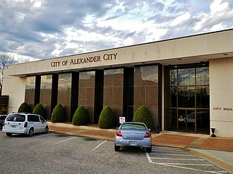 Alexander City, Alabama - Image: Alexander City, Alabama City Hall