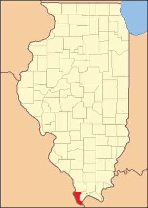 Alexander County, Illinois - Image: Alexander County Illinois 1843