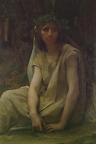 Druid - The Druidess, oil on canvas, by French painter Alexandre Cabanel (1823–1890)