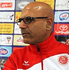 Alireza Marzban in press conference before Padideh-Esteghlal match.jpg