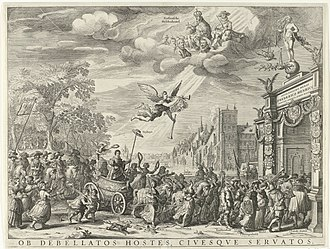 Triumph of Frederick Henry, Prince of Orange - Salomon Savery and David Vinckboons, Allegory of Frederick Henry's Triumphal Entry to the Hague, 1629