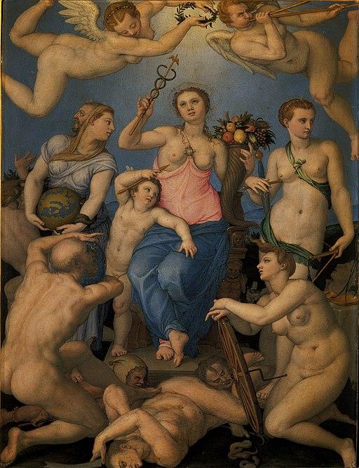 Allegory of Fortune, by Agnolo Bronzino (Oberösterreichische Landesmuseum) (cropped)