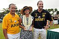 Allen Hoe, left, and Chris Dawson, right, present a trophy to Jeannine Wiercinski, wife of U.S. Army Lt. Gen. Francis J. Wiercinski, commander of U.S. Army Pacific Command, during an Army polo match hosted 120616-A-YK011-003.jpg