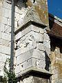 Allonne (60), église Notre-Dame de l'Annonciation, 4e travée du sud, contrefort d'angle.JPG
