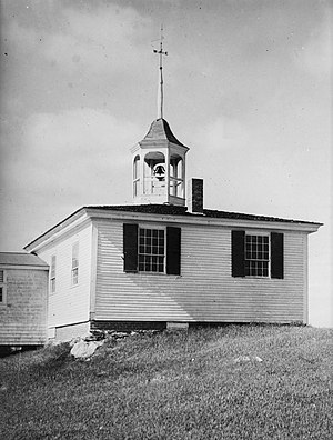 National Register of Historic Places listings in Lincoln County, Maine - Image: Alna School