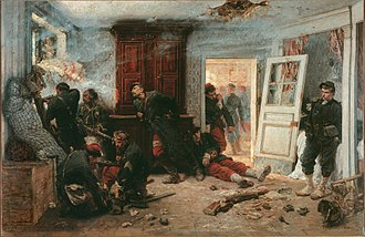 Battle of Bazeilles - Les dernnieres cartouches (The Last Cartridges), by Alphonse de Neuville