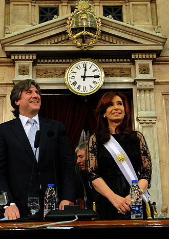 Amado Boudou - Boudou and Cristina Fernández de Kirchner at her 2011 inauguration