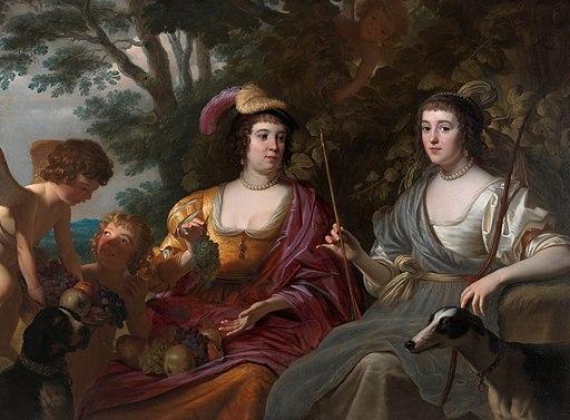Amalia van Solms and Charlotte de La Trémoïlle, by Gerard van Honthorst