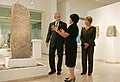 Amanda Weiss, Director of Bible Lands Museum Jerusalem, leads President George W. Bush and Laura Bush on a tour of the museum.jpg