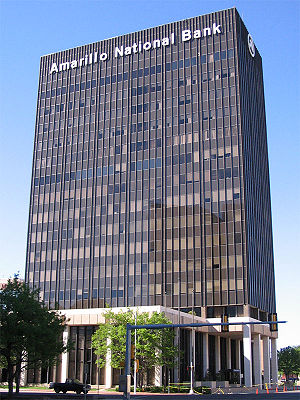 Amarillo National Bank - The Amarillo National Bank Plaza One building in downtown Amarillo