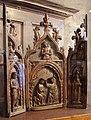 Ambitobolognese, trittico per la devozione domestica con icnoronazione della vergine, 1390-1410 ca..JPG