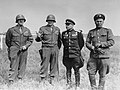 American and Soviet generals on the banks of the Elbe, Torgau, 26 April 1945 (111-SC-229966).jpg
