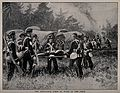 An ambulance corps at work in the field. Halftone. Wellcome V0015759.jpg