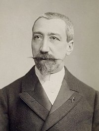 Anatole France photographed as a young adult at an unspecified time by Wilhelm Benque