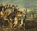 Andrea Schiavone - King Saul being greeted in triumph after David's defeat of Goliath.jpg