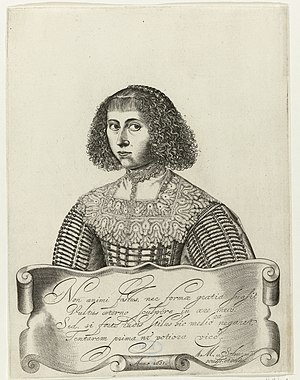 Anna Maria van Schurman - Self portrait, 1632