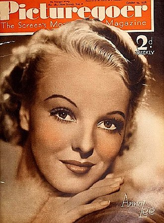 Anna Lee - Anna Lee on the cover of Picturegoer in 1936