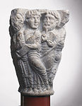 Anonyme - Chapiteau de colonnes jumelles , Les douze Apôtres - Musée des Augustins - ME 276 (4).jpg