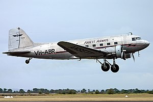 Ansett Historical Aviation Group Douglas DC-3 Point Cook Creek.jpg