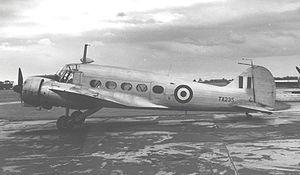 32 Squadron SAAF - Image: Anson C.19 Manchester 1955