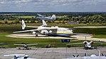 Antonov An-2 flyover of An-225 at Gostomel Airport.jpg
