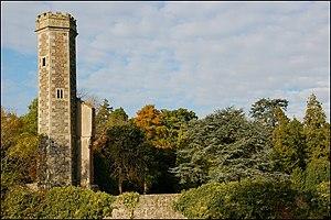 Antrim Castle - The remaining Italianate tower (1887).