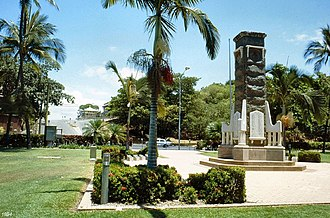 Anzac Memorial Park, Townsville - Image: Anzac Memorial Park and adjacent Banyan trees, 1994