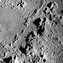 Part of the lunar surface