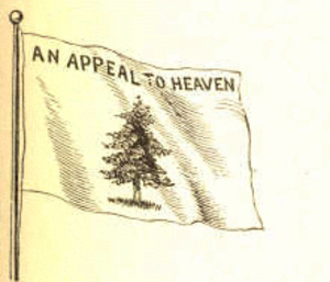 "Pine Tree Flag - The pine tree flag with the motto ""An Appeal to Heaven"""