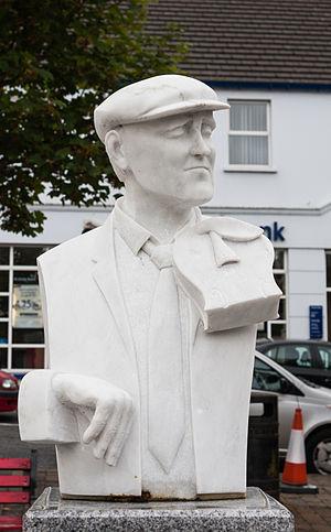 John Doherty (musician) - Image: Ardara Sculpture of John Doherty by Redmond Herrity 2014 09 05