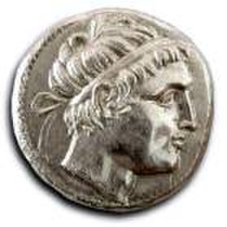Spartan army - Areus I, a Spartan king during the Chremonidean War, on a coin (310–266 BC)