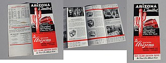 Brochure - A 1940s brochure advertising the train, Arizona Limited