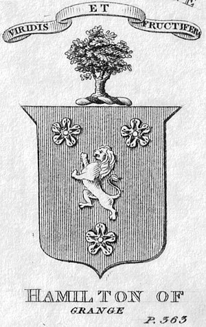 Alexander Hamilton - Arms, crest, and motto