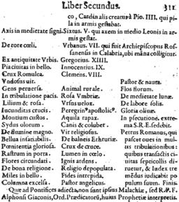 Arnoldo Wion 1595 Lignum Vitae p311