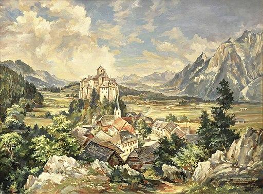 Arnoldstein Oelbild um 1870 01082012 555
