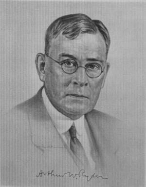 Arthur W. Ryder - Arthur W. Ryder