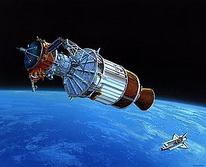 Inertial Upper Stage - Image: Artist picture Ulysses after deployment