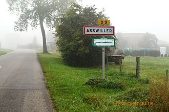 Asswiller - The entry to Asswiller