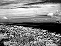 Astoria, Oregon and the mouth of the Columbia River as viewed in infra-red photography from atop the Astor Memorial Shaft. Lewis (1299b953ecb7451d832fac14a517ef9e).jpg